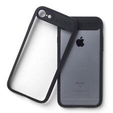 Handyhülle schwarz Bumper Tasche Case Hülle Cover Rückwand klar iPhone 6 Plus