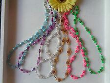 Elegante Halsketten Neon Farben Perlen  6 Varianten auswählbar UNIKATE