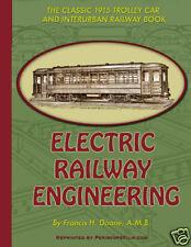 1915 VINTAGE ELECTRIC RAILROAD  TROLLEY CAR   INTERURBAN ENGINEERING BOOK