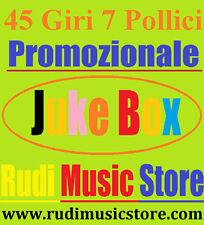 45Giri Promo Juke Box THE CULT / ENZO CANORO G. Bennato