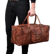 New Hot Leather Handmade Vintage Duffel Luggage holdall Gym Overnight Travel Bag