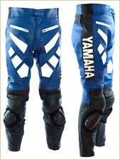 Pantalón de moto cuero yamaha Pantalón Moto Hombres Carreras Pantalones Todos Los Tamaños