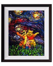 Vincent Van Gogh Starry Night Winnie The Pooh Canvas Art Wall Decor A013