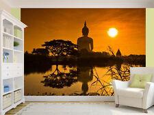 Budda statue au lever du soleil zen paix papier peint mural (14066752)
