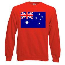 Australian Flag Sweatshirt,  Choice of size & colours.