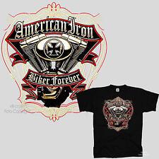 Biker T-Shirt american Chopper Vintage classic Harley Motor twin Motiv  *4292 bl
