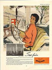 "original large colour advert ""  braemar knitware  "" 1955"
