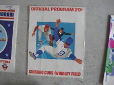 1974 Baseball Scorecard Chicago Cubs LOOK
