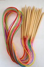 "New! US Sizes 0-15 Bamboo Circular Knitting Needles 40"" 100 cm Choose Size Color"
