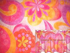 New GIRLS valance PINK orange PURPLE flowers CUSTOM