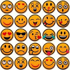 SMILEY EMOJI AUFNÄHER PATCH PATCHES EMOTICONS APPLIKATION BÜGEL BILD FLICKEN NEU