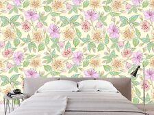 3D Purple Flower 741 Wallpaper Mural Paper Wall Print Indoor Murals CA Summer