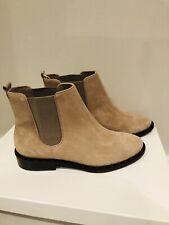 New Schutz Women's Shabba Beige Side Studded Suede Boots 6.5 US 37 EU