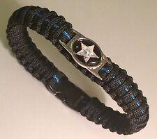 Thin Blue Line *  Paracord Bracelet * Florida Sheriff's Dept * Blue & Black *