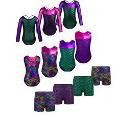 Kids Girls Mermaid Shiny Ballet Leotard Gymnastics Bottoms Dancewear Costume