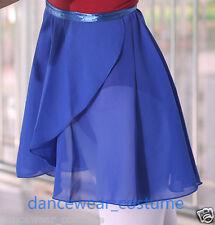 New Ladies Girls Chiffon Ballet Wrap over Scarf Dance Skate Leotard Tutu Skirt