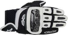 Alpinestars GPX Leather Street Bike Gloves Mens S-3XL Black/White