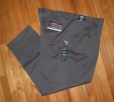 Roundtree Mens Med Gray Pleat Cuff Travel Pants 36, 40, 46, 50 NWT