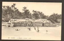 GABES (TUNISIE) Baignade au MOULIN à CHENINI en 1915