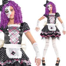 Kids Creepy Doll Costume Halloween Girls Fancy Dress 4-14 Years Scary Amscan