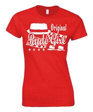 Grosero Niña camiseta mujer De Mod Skinheads Piel niña 2 Tono Dos Años 60 70s
