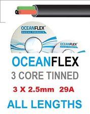 3 core conserves auto câble,12 / 24v marine bateau automobile multicœurs 3 x 2,5 mm 29 bis