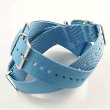 Sky Blue  Nato / Nylon Watch Strap : 18mm, 20mm or 22mm (FL20)