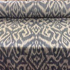 Nagora Ikat  Blue Linen   Curtain/Craft/Upholstery Fabric