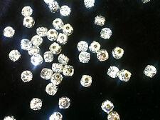 50pcs SEW ON GLASS CRYSTALS, RHINESTONE, DIAMANTES FOR CRAFT WORK GRADE AA