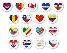 Country Flag Heart Pin Button Badge Magnet Keyring Bottle Opener Mirror - C
