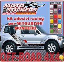 Adesivi fuoristrada 4x4 - MITSUBISHI MONTERO - Kit adesivi FIANCATE Racing