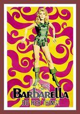 Barbarella   Cult Movie Posters Classic Vintage Cinema