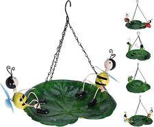 Decorative Hanging Metal Bird Bath Garden Wild Bird Seed Feeder 4 Designs