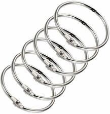 """10x STAINLESS STEEL BINDER RINGS LOOSE LEAF HINGED KEYCHAIN RINGS 2"""", 2.5"""" or 3"""""""