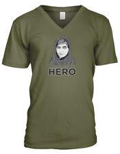 Malala Is My Hero Yousafzai Pakistani Education Nobel Women Men's V-Neck T-Shirt
