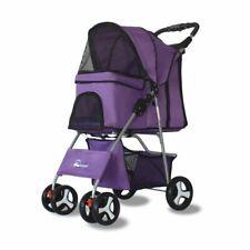 Outdoor Pet Cart Dog Cat Carrier Pet Stroller  Multicolor Oxford Cloth Steel Pip