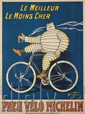 REPRO DECO AFFICHE PNEU VELO CYCLE LE MEILLEUR 1912 SUR PANNEAU MURAL BOIS HDF