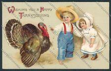 Clapsaddle Ellen Thanksgiving postcard cartolina B6939 SZG