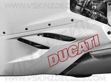2x Ducati Outline Logo Premium Cast Fairing Decals Stickers Kit Supersport S 899