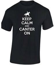 Keep Calm Canter On Equitación Niños Unisex Camiseta 8 COLORES ( XS-XL ) de SW
