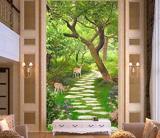 3D Garten Hirsche Bäume 85 Tapete Wandgemälde Tapete Tapeten Bild Familie DE