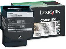 Lexmark C540H1KG Original OEM Black Toner Cartridge - High Capacity 2500 Pages