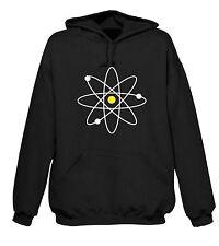 ATOM SYMBOL HOODY - Geek Nerd Physics Science Atomic T-Shirt - Sizes S-XXL