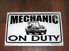 Auto Repair Shop Sign: Mechanic On Duty