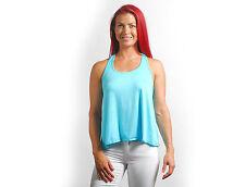 New Women's Ladies Mint Slouchy Racerback Tank Top Flowy Sleeveless Yoga S M L