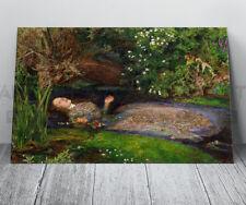 John Everett Millais Ophelia Pre-Raphaelite Canvas Print Framed Art Picture
