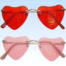 Randlose Herzbrille Brille in Herzform Rosa Rot Unisex Valentinstag Liebesbrille