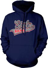 Sixty Rocks 60 Years Birthday Young Age Old Happy Band Guitar Hoodie Sweatshirt