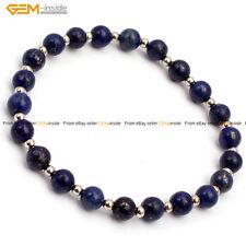 "Womens Mens Natural Round 6mm Handmade Adjustable Fashion Jewelry Bracelet 7.5"""