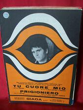 MARIO ZELINOTTI Tu cuore mio + Prigioniero Disco per l'estate 1971 Spartiti
